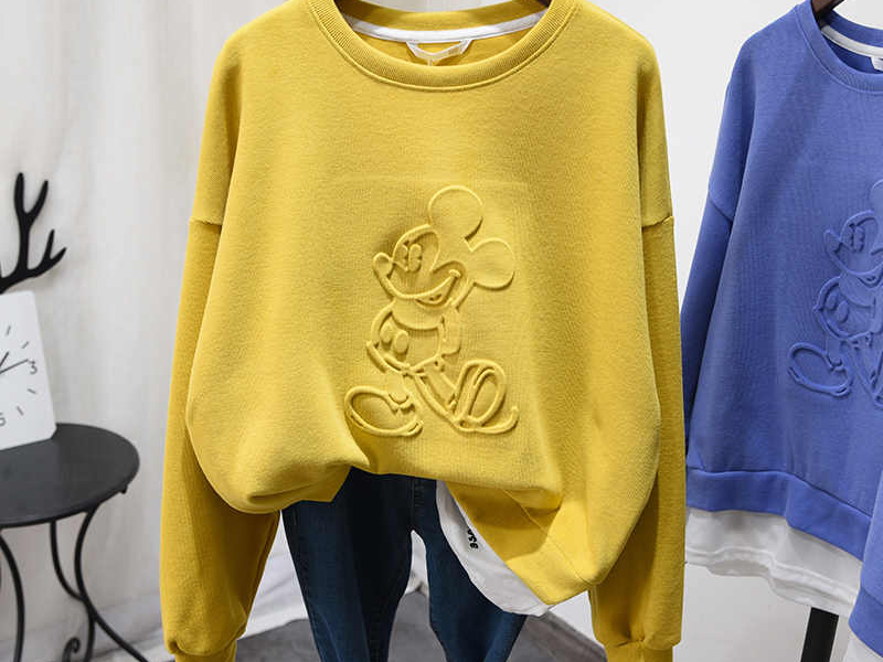Dập Nổi Trên Vải Mickey