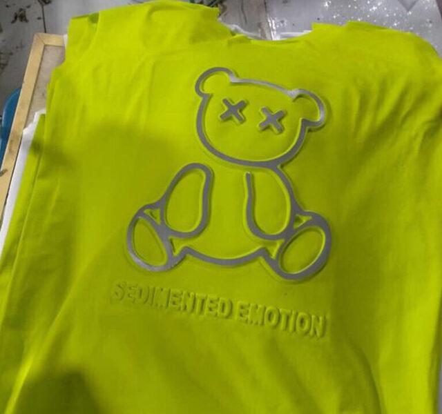 Dập Nổi Trên Vải Hình Gấu Teddy