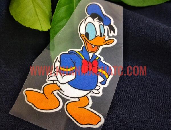 Mẫu In Pet Chuyển Nhiệt Vịt Donald