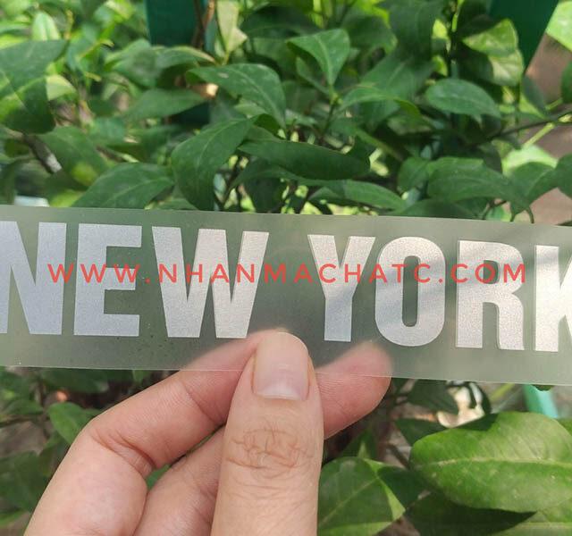 Nhãn Ép Nhiệt Nhũ Bạc NewYork Đẹp Rẻ Không Bong Rạn