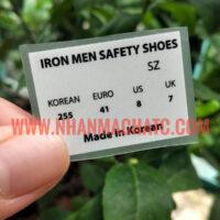 Nhãn Ép Nhiệt Mác Giày Iron Men Đẹp Rẻ Bền